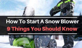 how to start snow blower